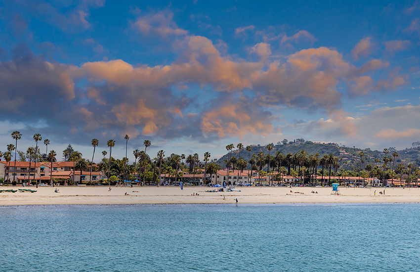 The best summer beach destination in America is Santa Barbara in California