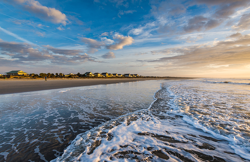 Premier beach vacation spot in the summer is Isle of Palm in South Carolina