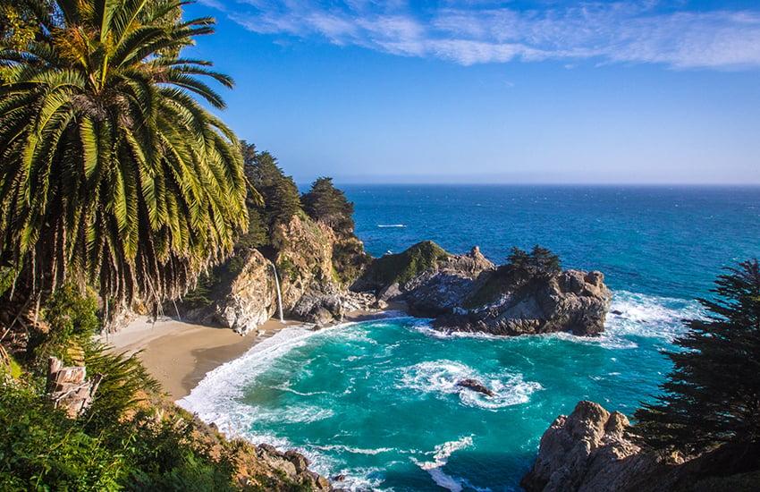 Best pristine beach vacation location is Big Sur in California