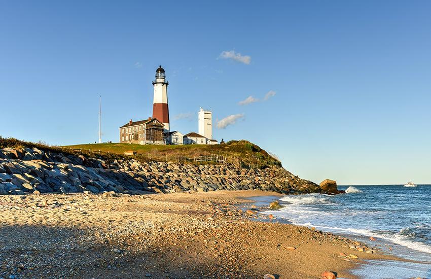 The best summer beach travel spot in America is Montauk in New York