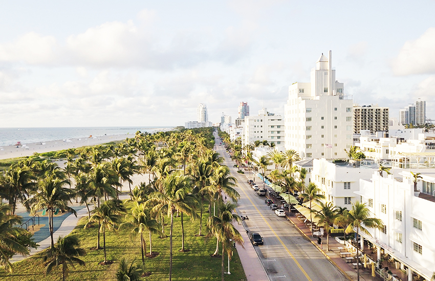 Top luxurious summer vacation destination is South Beach in Florida