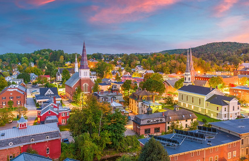 Top vacation spot in the summer for couples in Montpelier in Vermont